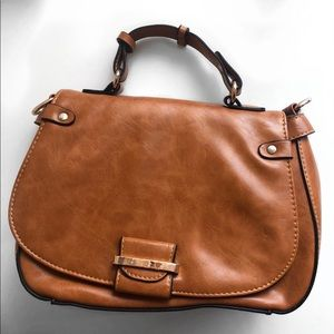 Handbags - Brown Purse with gold accents
